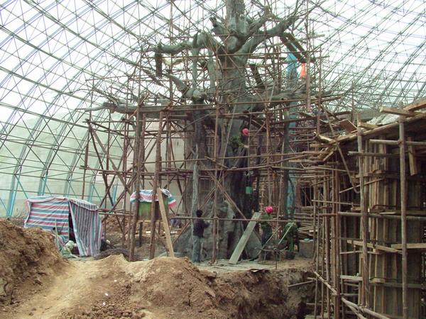 青岛生态园餐厅假树工程